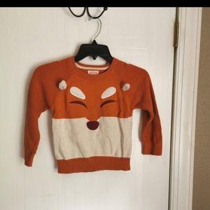 2/$20 Cat & Jack fox thin knit sweater size 4